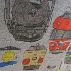 ed794bfc90bb6 電車のロンパース(グレー) ベビー服 mommki 通販 Creema(クリーマ ...