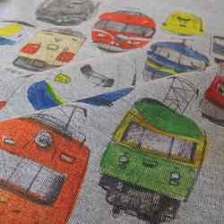 fddc2e4f7a3cc 電車のロンパース(グレー) ベビー服 mommki 通販 Creema(クリーマ) ハンドメイド・手作り・クラフト作品の販売サイト