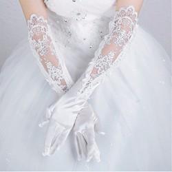 45c3a88aa3f39 ウエディング サテン グローブ 手袋 ストレッチ ロング 白 ホワイト 結婚式 ブライダル ギフト ブライダル
