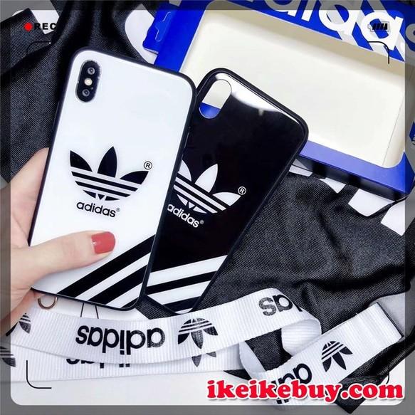 dd22dc7a6e Adidas ロゴ柄 三つ葉iPhoneX XSケース カップル用 ADIDAS iPhoneXS/XS MAX ケース