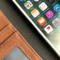 725e331196 ☆SALE!【iphone8/iPhone7】多収納ポケット付きスエード調ブラウン&カーキ 手帳型アイフォンケース