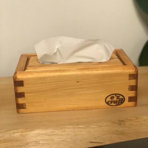 ozcraft [ヒノキのティッシュケース メープル] ティッシュボックス 木製 リビング ダイニング エコ 詰替