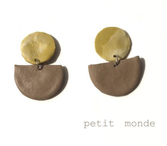 樹脂粘土のピアス・イヤリング ピアス petit monde 通販|Creema ...
