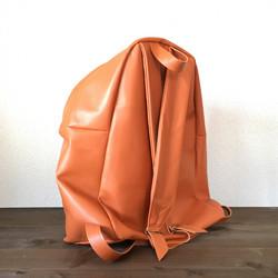 2f59c59bd468 豚革 オレンジ バッグパック リュック リュック・バックパック UNKNOWN 通販 Creema(クリーマ)  ハンドメイド・手作り・クラフト作品の販売サイト
