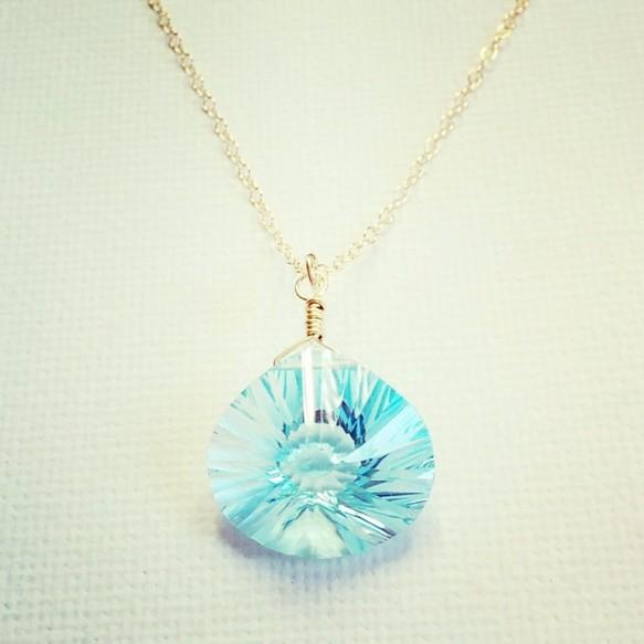 Sky blue topaz pendantpeace shore sky blue topaz pendant mozeypictures Images