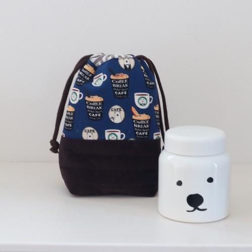 しろくまカフェのほっこりスープジャーバッグ【ネイビーブルー】
