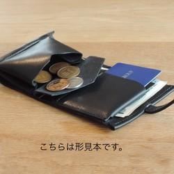 3b375ccb4834 高級革>イタリアレザー使用の薄いミニ財布!ブラック色 財布・二つ折り ...