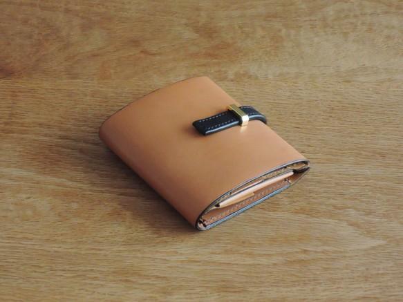608b7c5f7f19 高級革>イタリアレザー使用の薄いミニ財布!キャメル色 財布・二つ折り ...