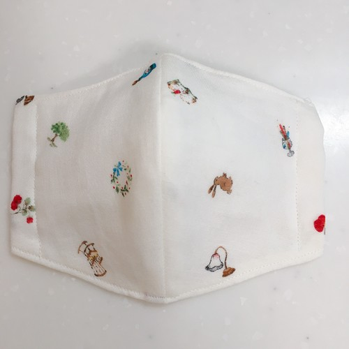 百合子 マスク 手作り 小池