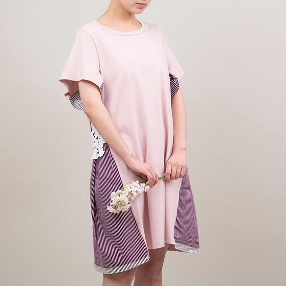 41256059aa5c8 綿100のつぼみワンピース(ピンク) ワンピース・チュニック AZ-U ...