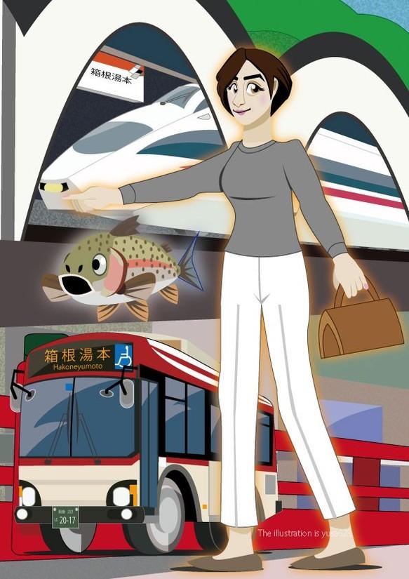Hakoneyumoto 箱根湯本 イラスト Yusa623 通販creemaクリーマ