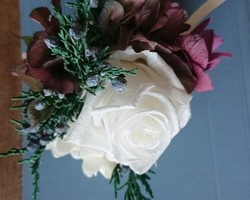 fbf9036f02e456 プリザーブドフラワー☆パールホワイトのコサージュ☆大輪☆卒業式☆入学式