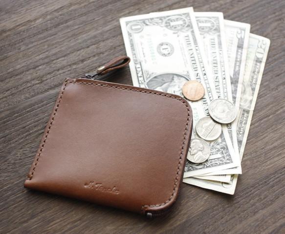 b245776adebd 【送料無料】カードも小銭もお札も入る♪ 栃木レザー L型ウォレット 本革 財布 日本製 小さなお財布