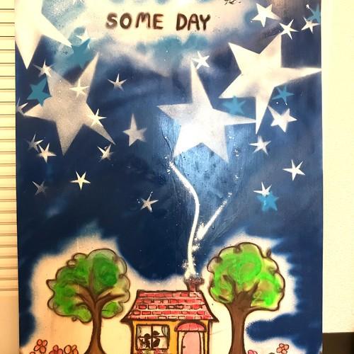 イラスト 星空に輝く星が綺麗にお部屋を温かに Some Day イラスト Sayulily122 通販 Creema クリーマ ハンドメイド 手作り クラフト作品の販売サイト