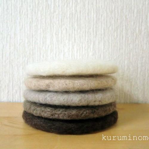 コースター 羊毛 フェルト