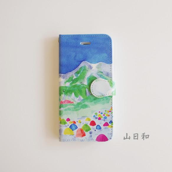 43dcf97e82 山日和】手帳型/白○iPhone/Android○スマホケース/カバー #山 #登山 ...