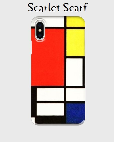 caa08aa38e 再販:iPhone X にも対応。iPhone機種対応ハードケース:名画:モンドリアン「赤・青・黄のコンポジション」