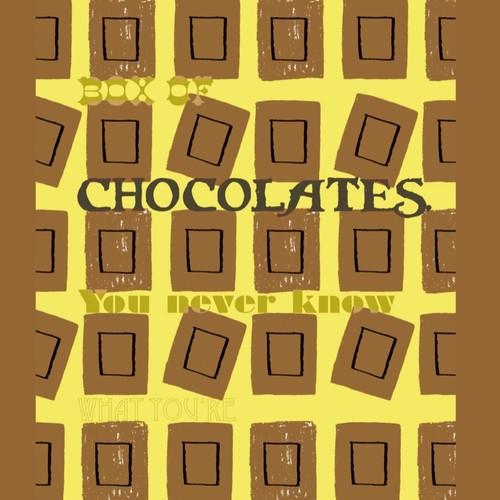 オシャレイラストポスター 映画名言 チョコレート 01 イラスト Photodesign 通販 Creema クリーマ ハンドメイド 手作り クラフト作品の販売サイト