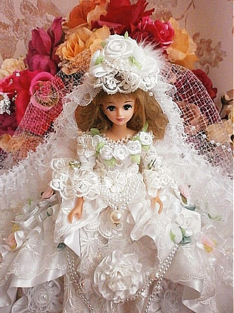 5eef58f39b928 オーダー作品 ジェニー ローズレーヌの ブライダルドレス ピュアホワイト 人形 rose reine ☆ ローズレーヌ
