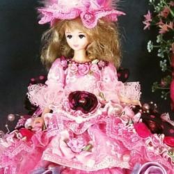 f2767f9e98a7b ドール服 着せ替え ドットと薔薇 スイートドレスのお姫様 人形 rose ...