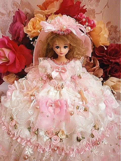 e1a4015ceca41 ドール服 着せ替え お姫様ドレス レース 薔薇の花園 人形 rose reine ☆ ローズレーヌ