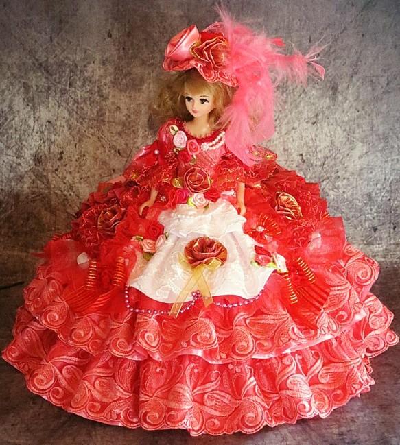 b00d7a173bed2 SOLD ☆期間限定!送料無料!ドール服 着せ替え フリルたっぷりのゴージャスドレス 人形 rose reine ☆ ローズレーヌ