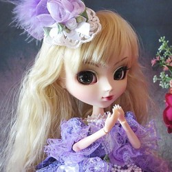 2fe6b77c43dd2 Sold☆GW-Sale!ドール服 オーバー トレーン ドレス 着せ替え 紫陽花の花束 フリフリ