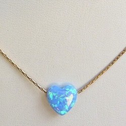 blue opal heart necklace blue opal heart necklace mozeypictures Gallery