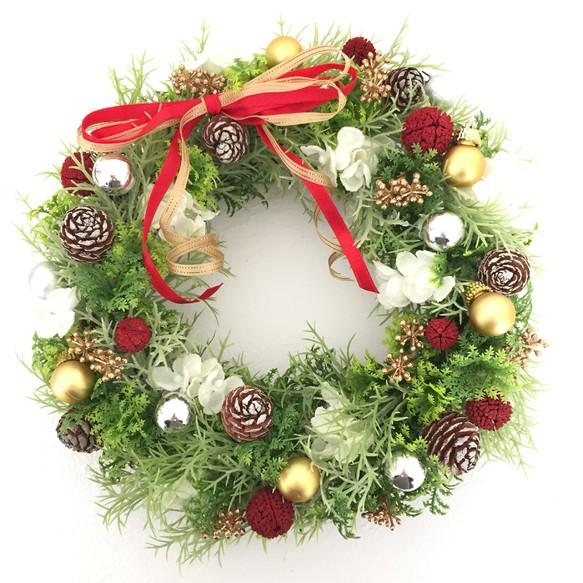 送料無料 クリスマスリース フラワーリース Rayonnant Fleurs 通販