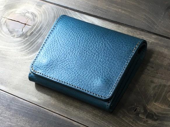 c5243f22f230 ミニマルウォレット 持つ人を選ばないシンプルな装いと機能 ターコイズ 財布・二つ折り財布 RoughWellDesign