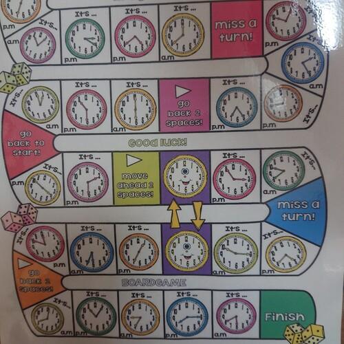 すごろく【時間を英語で言うことができるようになる・時計が読めるよう ...