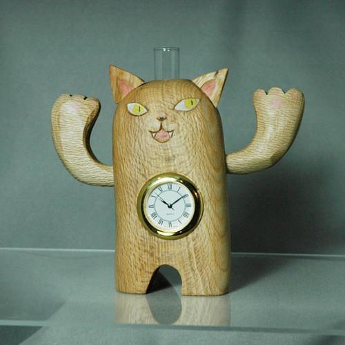 ねこの腹時計 掛け時計・置き時計 フラワーズ 通販 Creema(クリーマ ...