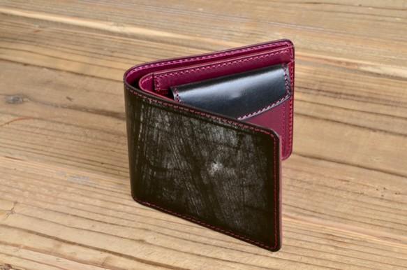 1d183f8b398a お好きな色で製作】ブライドルレザー 二つ折り財布 財布・二つ折り財布 ...