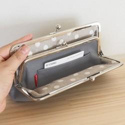 d71a61575510 革 親子がまぐち 長財布 財布 レザー たくさん入る がま口 ロング タイプ ...
