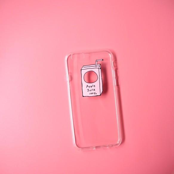 84447981fd iPhone6/6sケース:Appleのロゴを活用したApple Juice 100%<遊び心・デザイン>