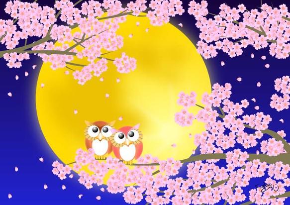 A4イラスト008 静月桜しづきさくら イラスト ふくはらしゅんじ 通販