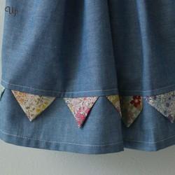 02d0469da6161 青と花柄のスカート(110-120) 子供服 KEITO12 通販|Creema(クリーマ) ハンドメイド・手作り・クラフト作品の販売サイト