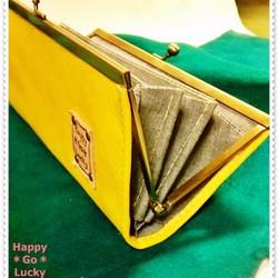 5fcc46d0c91a9f n様注文分 がま口長財布 黄色 コンパクト がま口 Happy*Go*Lucky 通販|Creema(クリーマ)  ハンドメイド・手作り・クラフト作品の販売サイト