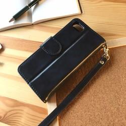5c79da6acaf1 手帳型 iphone8 iphone7 スマホケース 男性にプレゼント レザー お財布付き ネイビー
