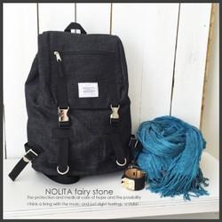 0316a9df2d0f NOLITA シンプル リュックサック デニムシリーズ ブラック PD-1501 ...
