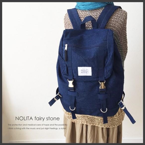 dae0e764fe5b 新作☆NOLITA シンプル リュックサック デニムシリーズ ネイビー PD-1501 ...