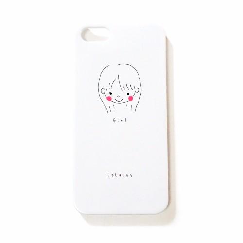 シンプル女の子のイラストiphoneケース Luvgirl Iphoneケース カバー M U Luv 通販 Creema クリーマ ハンドメイド 手作り クラフト作品の販売サイト