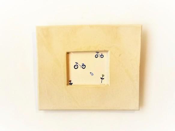 いつもの場所へイラスト原画陶器の額縁入り 畫 Nao Kamimura 的作品