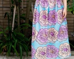 Pocket color long skirt}ブラック×ブラック スカート BLÜTE