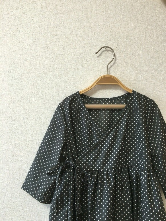 850f974b3a56f 100-110cm☆ドットの2wayカシュクールワンピース 子供服 umeyo 通販 ...