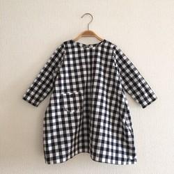 f83e2ef8f01e9 再販×5☆80〜110cm☆ギンガムチェックの立体マチ付きワンピース 子供服 ...