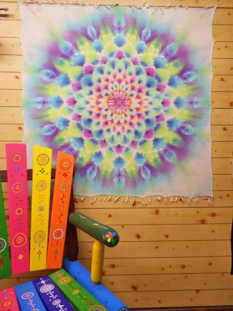 生活所迫的明亮和柔和的色彩紮染紮染曼陀羅掛毯曼陀羅hd8 26 壁毯牆壁