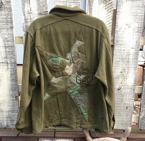 「giannetto シャンブレーストライプシャツジャケット」