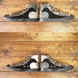 51de99cc9f5a 【受注制作】蛇革×モノクロ チクチク靴 HI Aタイプ シューズ・靴 DWARF ( ドワーフ ) 通販 Creema(クリーマ) ハンドメイド・手作り ・クラフト作品の販売サイト