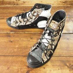 30b71ceff2a9 受注制作】蛇革×モノクロ チクチク靴 HI Aタイプ シューズ・靴 DWARF ( ドワーフ ...
